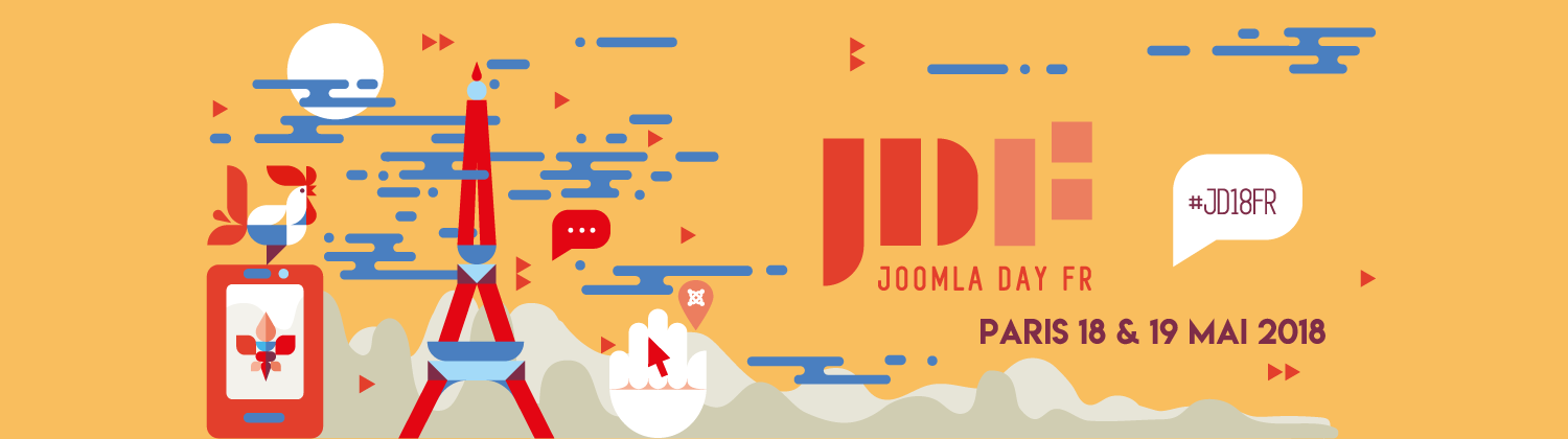 Joomladay francophone 2018 à Paris 18 et 19 mai